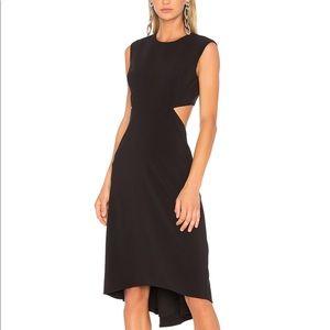 Halston Hi-Low Cutout Black Dress